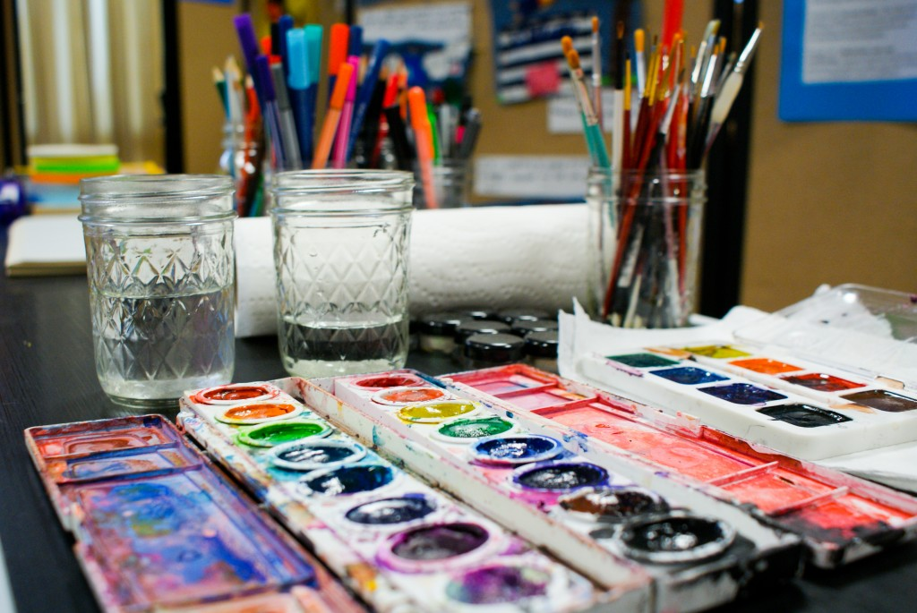 Photograph of art supplies