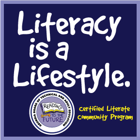 "Logo with the words ""Literacy is a Lifestyle."""
